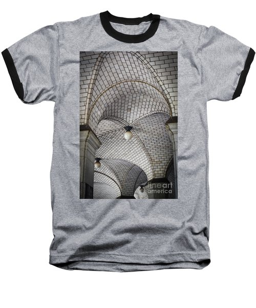 Baseball T-Shirt featuring the photograph City Hall Ceilings by Judy Wolinsky