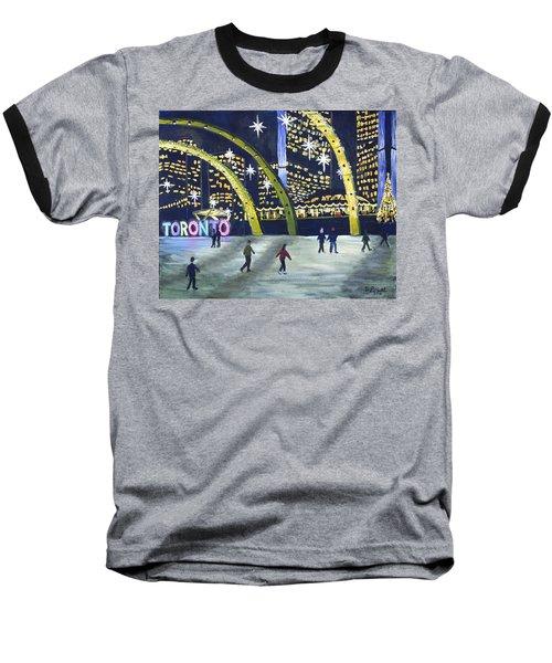 City Hall Christmas Baseball T-Shirt