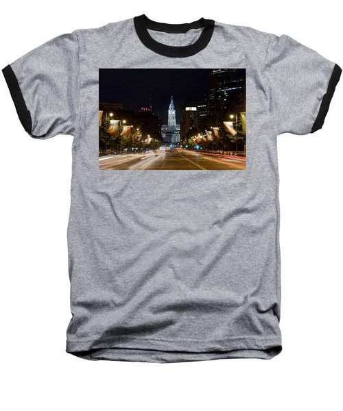 City Hall From The Parkway Baseball T-Shirt by Jennifer Ancker