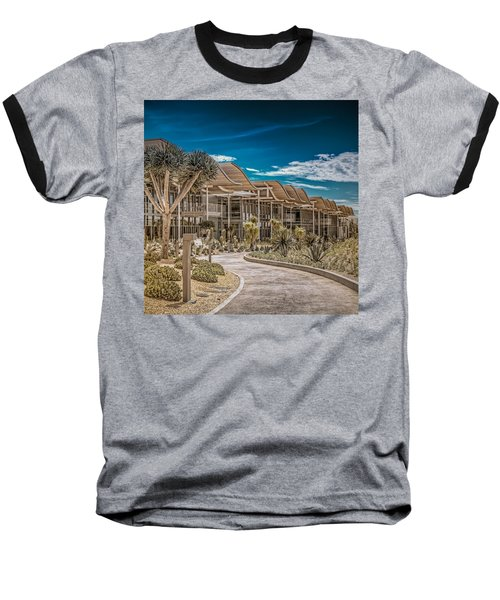 Newport Beach California City Hall Baseball T-Shirt by TC Morgan