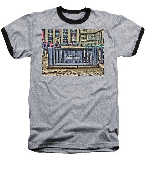 City Hall Sidewalk Baseball T-Shirt