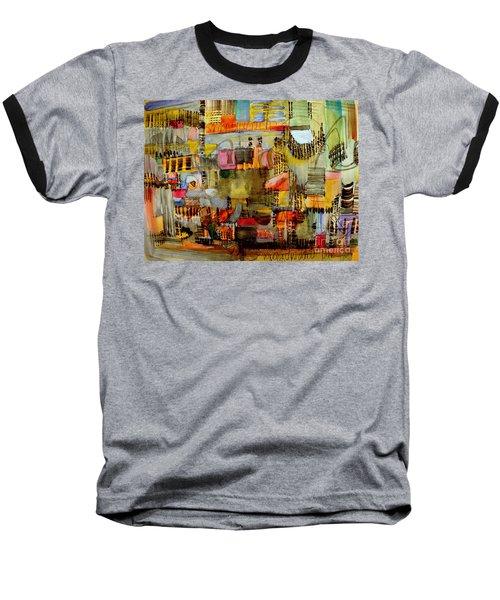 City Life  Baseball T-Shirt by Nancy Kane Chapman