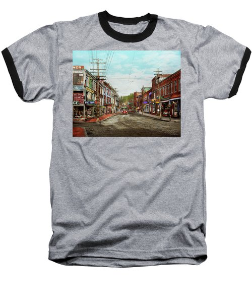 Baseball T-Shirt featuring the photograph City - Ma Glouster - A Little Bit Of Everything 1910 by Mike Savad