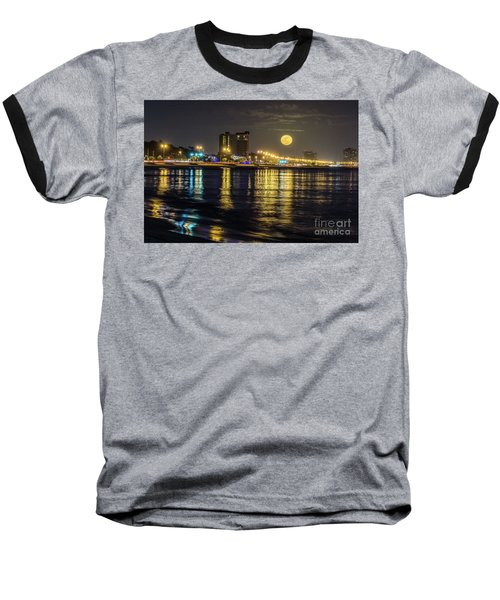 Baseball T-Shirt featuring the photograph City Moon by Brian Wright