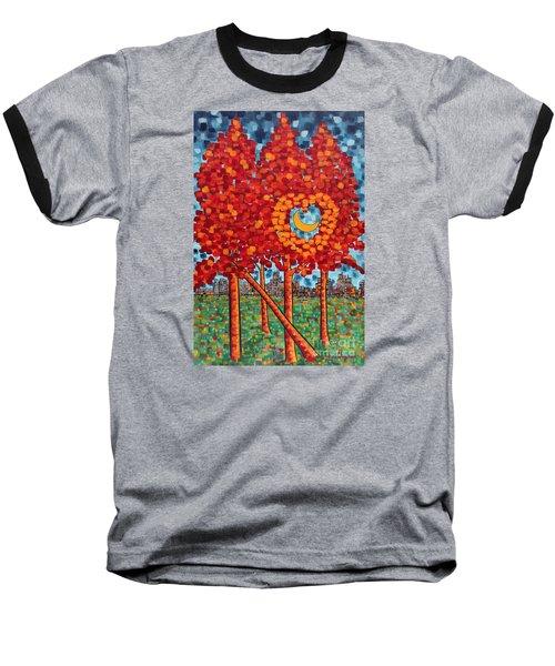 City Moonshine Baseball T-Shirt by Holly Carmichael