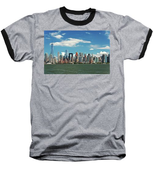 Baseball T-Shirt featuring the photograph City - New York Ny - The New York Skyline by Mike Savad