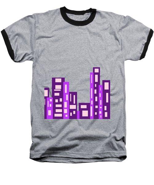 City Night Baseball T-Shirt by Joy Watson