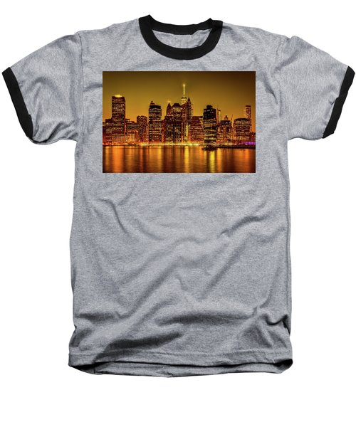 Baseball T-Shirt featuring the photograph City Of Gold by Chris Lord