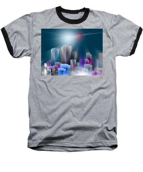City Of Light Baseball T-Shirt by John Krakora