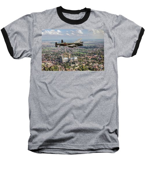 Baseball T-Shirt featuring the photograph City Of Lincoln Vn-t Over The City Of Lincoln by Gary Eason
