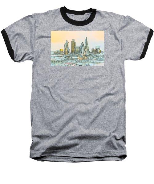 City Of London Outline Poster  Baseball T-Shirt