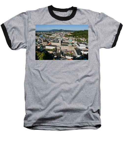Baseball T-Shirt featuring the photograph City Of Salzburg by Silvia Bruno