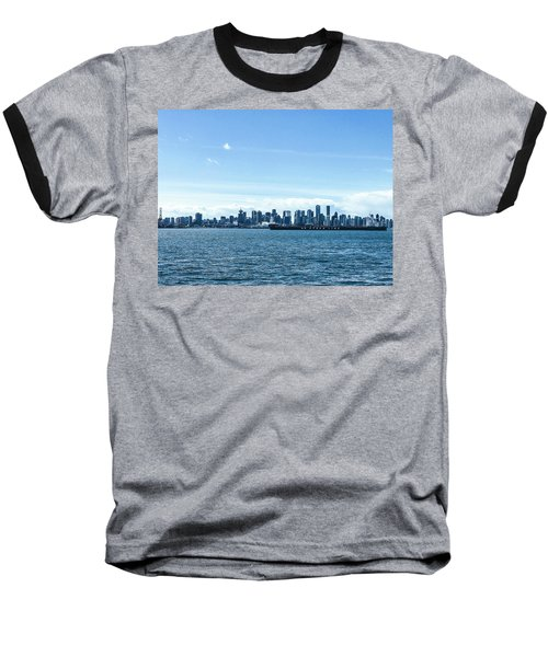 City Of Vancouver From The North Shore Baseball T-Shirt
