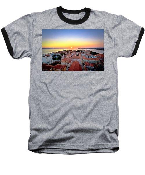 City Of Zadar Skyline Sunset View Baseball T-Shirt