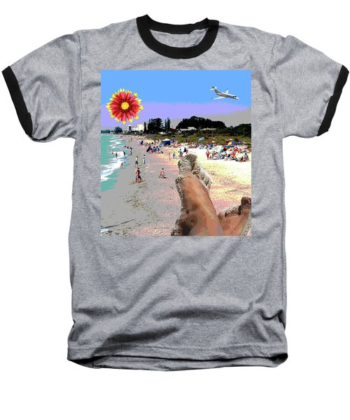 City On The Gluf Baseball T-Shirt by Charles Shoup