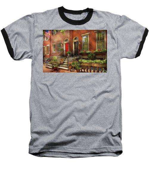 Baseball T-Shirt featuring the photograph City - Pa Philadelphia - Pretty Philadelphia by Mike Savad