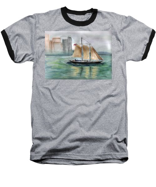City Sail Baseball T-Shirt by Clara Sue Beym