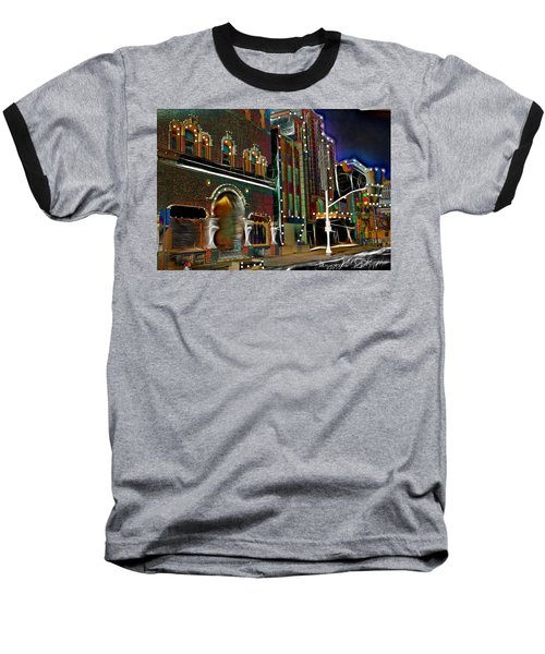 Baseball T-Shirt featuring the photograph City Scene by EricaMaxine  Price