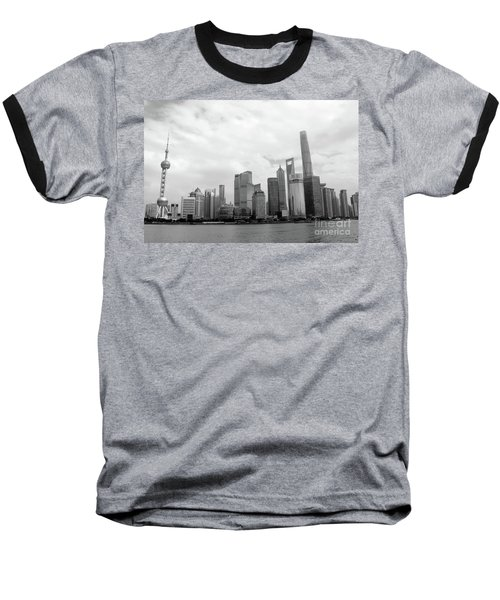 Baseball T-Shirt featuring the photograph City Skyline by MGL Meiklejohn Graphics Licensing