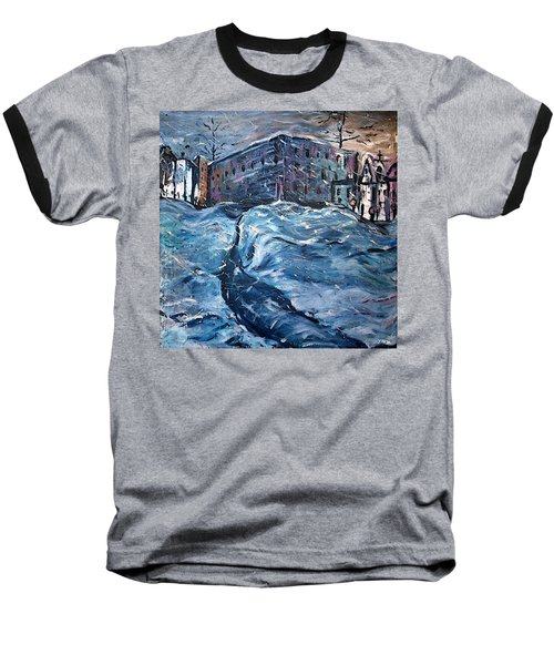 City Snow Storm Baseball T-Shirt