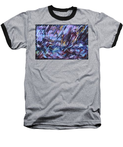City Storm Abstract Baseball T-Shirt