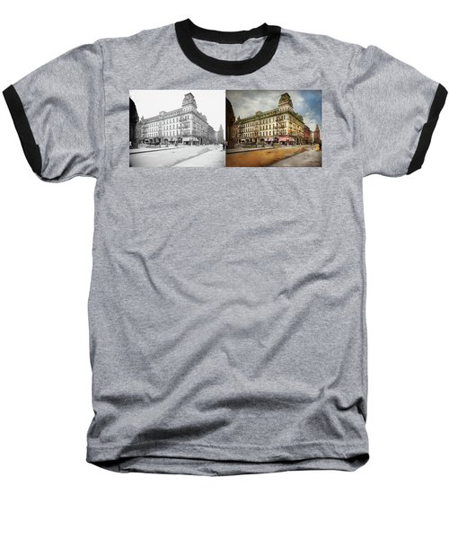 Baseball T-Shirt featuring the photograph City - Toledo Oh - Got A Boody Call 1910 - Side By Side by Mike Savad