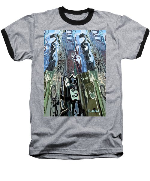 City Towers Baseball T-Shirt by Alika Kumar