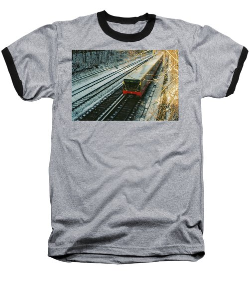 City Train In Berlin Under The Snow Baseball T-Shirt