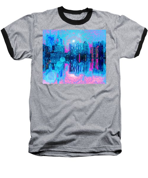 City Twilight Baseball T-Shirt by Holly Martinson