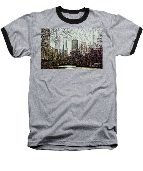 Baseball T-Shirt featuring the photograph City View From Park by Sandy Moulder
