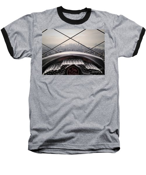 Baseball T-Shirt featuring the photograph City View by MGL Meiklejohn Graphics Licensing