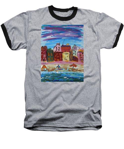 City With A Pink Boardwalk Baseball T-Shirt