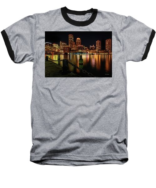 City With A Soul- Boston Harbor Baseball T-Shirt