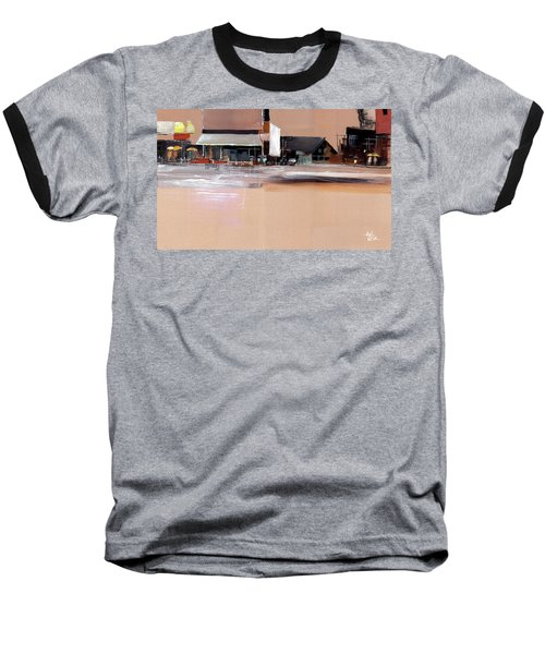 Baseball T-Shirt featuring the painting Cityscape 3 by Anil Nene