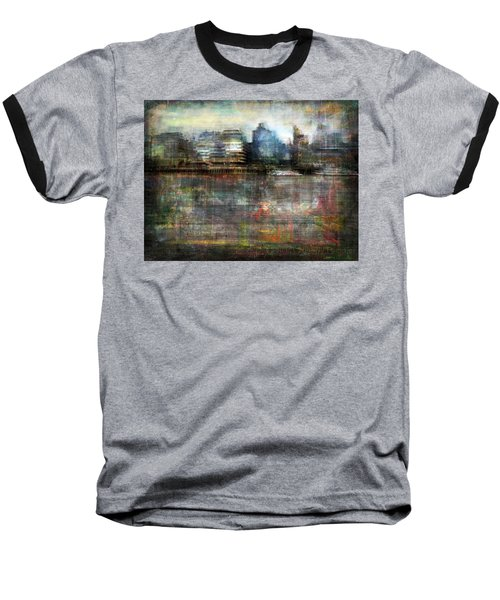Cityscape #33. Silent Windows Baseball T-Shirt by Alfredo Gonzalez