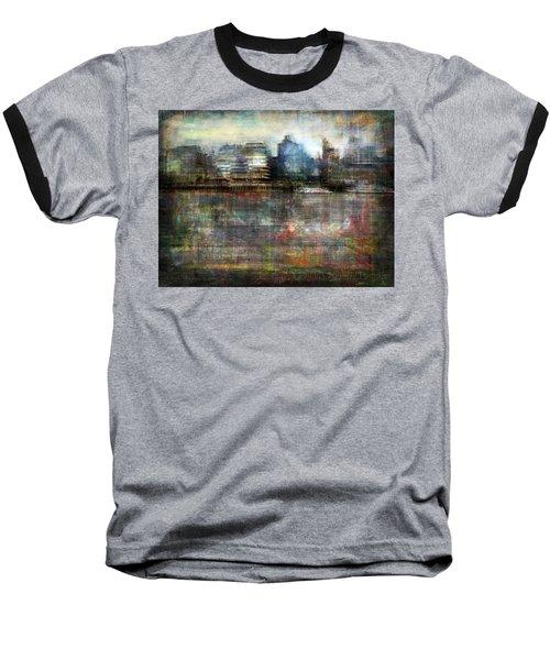 Cityscape #33. Silent Windows Baseball T-Shirt by Alfredo Gonzalez