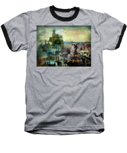 Cityscape 38 - Homeless Angels Baseball T-Shirt by Alfredo Gonzalez