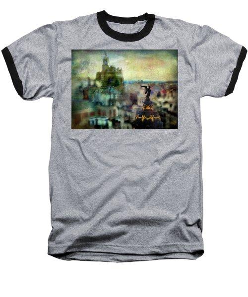 Baseball T-Shirt featuring the photograph Cityscape 38 - Homeless Angels by Alfredo Gonzalez
