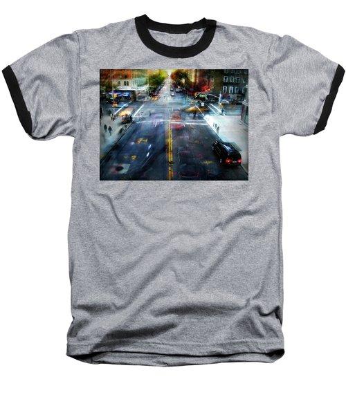 Baseball T-Shirt featuring the photograph Cityscape 39 - Crossroads by Alfredo Gonzalez