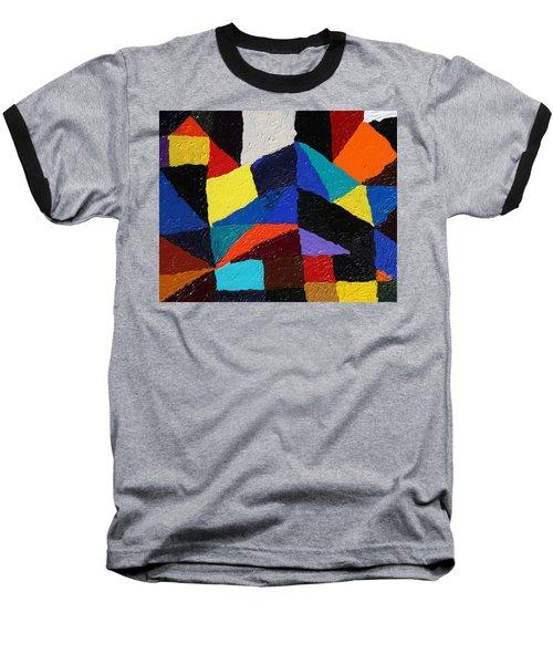 Cityscape Baseball T-Shirt by Ralph White