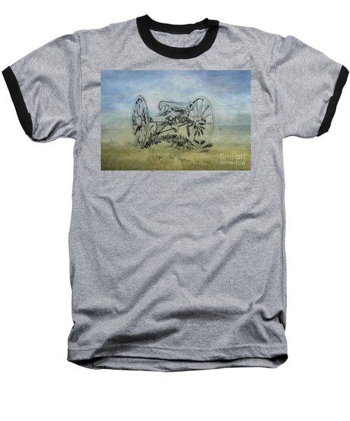 Civil War Cannon Sketch  Baseball T-Shirt