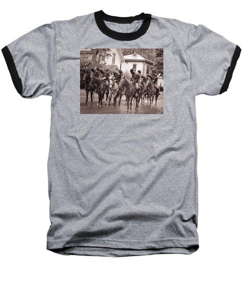 Civil War Soldiers On Horses Baseball T-Shirt
