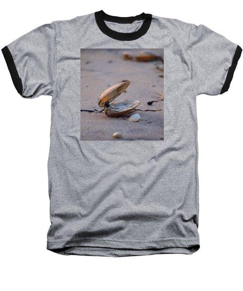 Clam I Baseball T-Shirt by  Newwwman
