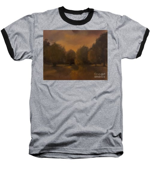 Clapham Common At Dusk Baseball T-Shirt by Genevieve Brown