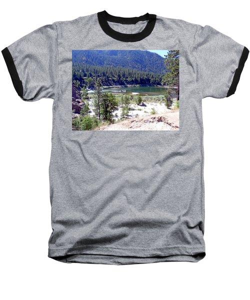 Clark Fork River Missoula Montana Baseball T-Shirt