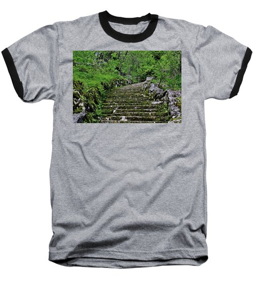 Baseball T-Shirt featuring the photograph Clark Reservation  by Suzanne Stout