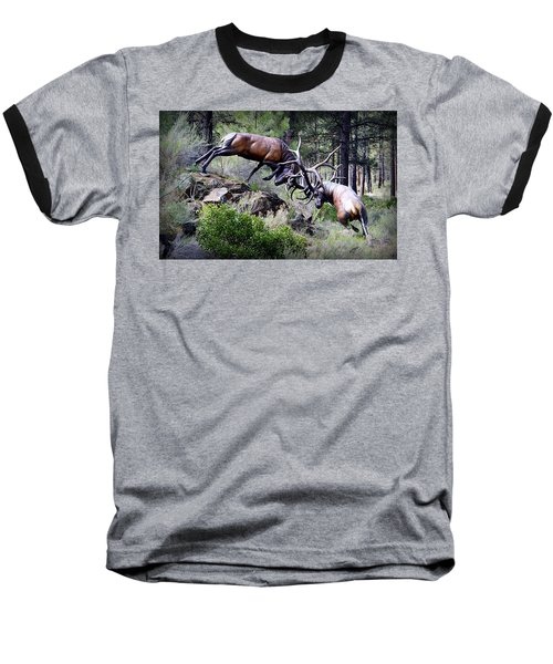 Baseball T-Shirt featuring the photograph Clash Of The Titans by AJ Schibig