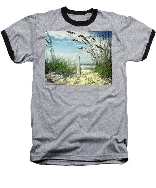 To The Beach Sea Oats Baseball T-Shirt