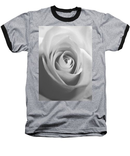 Classic Bw Rose Baseball T-Shirt