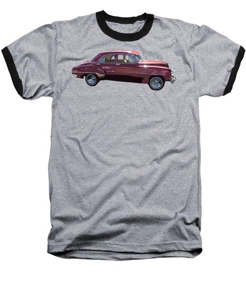 Classic Car Art In Red Baseball T-Shirt